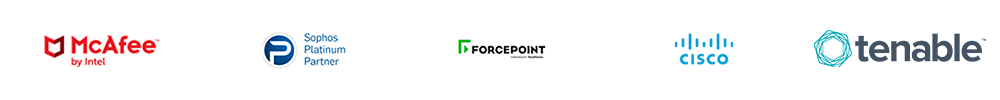 McAfee Sophos Platinum Partner Forcepoint Cisco Tenable
